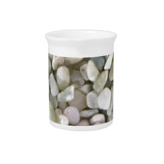 gravel stones and color pitcher