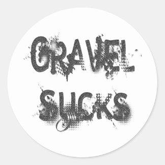 Gravel Sucks gray Classic Round Sticker