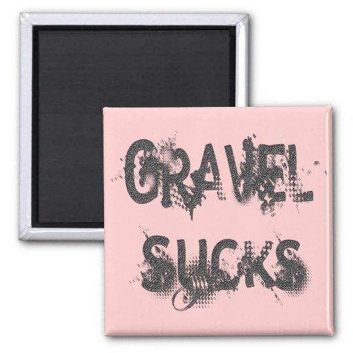 Gravel Sucks gray Magnets