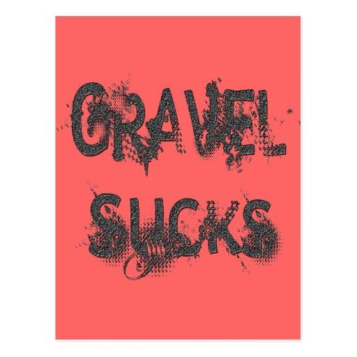 Gravel Sucks gray Postcards