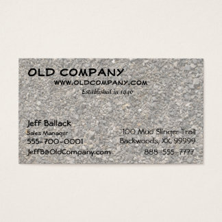 Gravel Texture Business Card