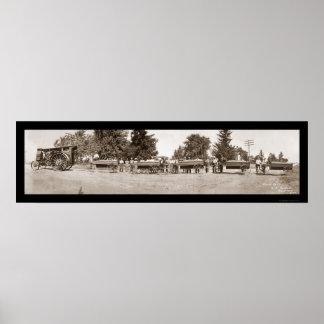 Gravel Train Iowa Photo 1913 Poster