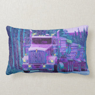 Gravel Truck North American Highway Art Pillow