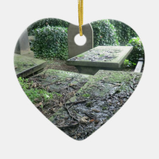 Graves at Haworth Churchyard in Yorkshire Ceramic Ornament