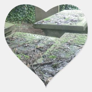 Graves at Haworth Churchyard in Yorkshire Heart Sticker