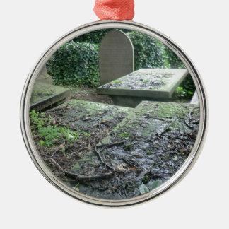 Graves at Haworth Churchyard in Yorkshire Metal Ornament