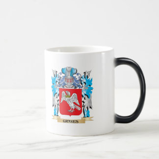 Graves Coat of Arms - Family Crest 11 Oz Magic Heat Color-Changing Coffee Mug