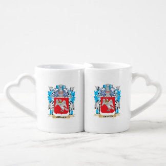 Graves Coat of Arms - Family Crest Couples' Coffee Mug Set