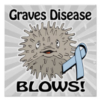 Graves Disease Blows Awareness Design Poster