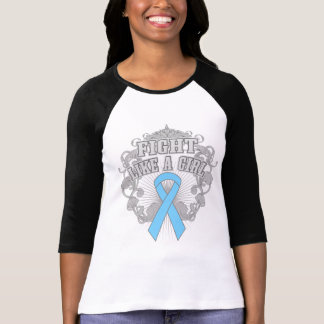 Graves Disease Fight Like A Girl Fleurish Tee Shirt