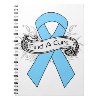 Graves Disease Find A Cure Ribbon Spiral Note Books