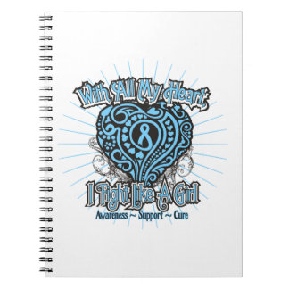 Graves Disease Heart I Fight Like A Girl Notebook