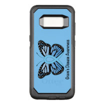 Graves Disease with Butterfly Awareness Ribbon OtterBox Commuter Samsung Galaxy S8 Case
