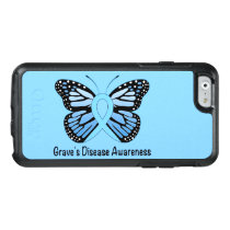 Graves Disease with Butterfly Awareness Ribbon OtterBox iPhone 6/6s Case