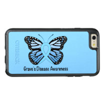 Graves Disease with Butterfly Awareness Ribbon OtterBox iPhone 6/6s Plus Case