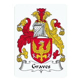 Graves Family Crest 5x7 Paper Invitation Card