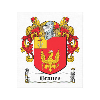 Graves Family Crest Canvas Print