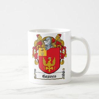 Graves Family Crest Classic White Coffee Mug