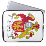 Graves Family Crest Computer Sleeves