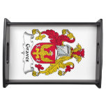 Graves Family Crest Food Tray