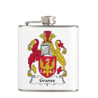 Graves Family Crest Hip Flasks