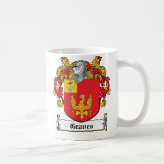 Graves Family Crest Classic White Coffee Mug