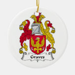 Graves Family Crest Ornaments