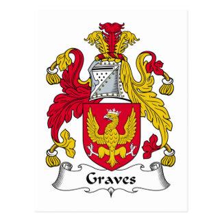 Graves Family Crest Postcard