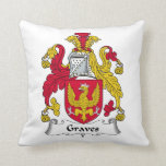 Graves Family Crest Throw Pillows