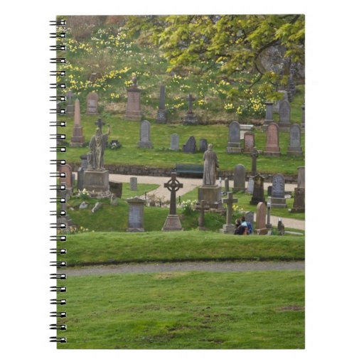 Graves in the cemetery next to Sterling Castle Notebook