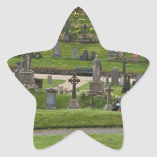 Graves in the cemetery next to Sterling Castle Star Sticker