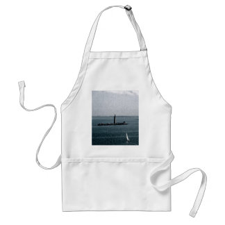Graves Light in Boston Harbor Adult Apron