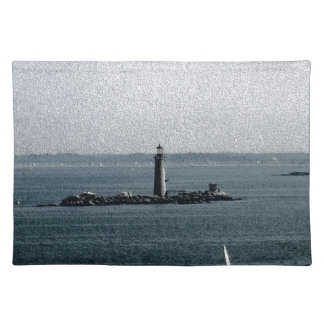 Graves Light in Boston Harbor Cloth Placemat