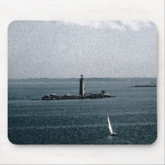 Graves Light in Boston Harbor Mouse Pad