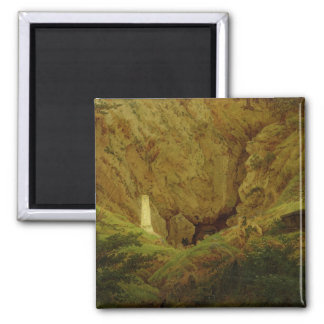 Graves of Ancient Heroes, 1812 2 Inch Square Magnet