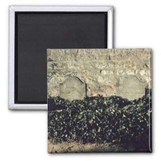 Graves of Vincent  and Theo  van Gogh 2 Inch Square Magnet
