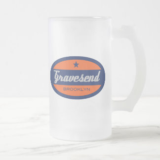Gravesend Frosted Glass Beer Mug