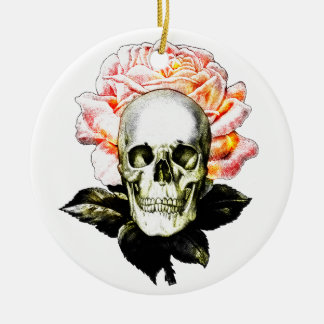 Graveside Double-Sided Ceramic Round Christmas Ornament
