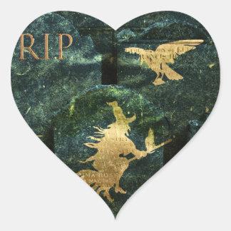 Gravestone Hell Heart Stickers