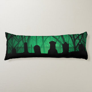 Graveyard And Trees Background Body Pillow