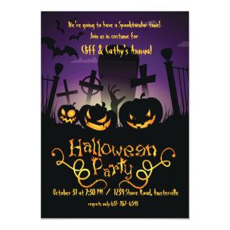 "Graveyard Antics Halloween Invitation 5"" X 7"" Invitation Card"