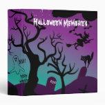 Graveyard black, purple, turquoise Halloween Binders