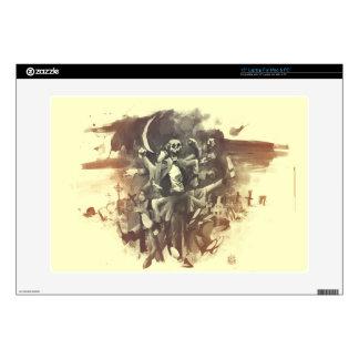 "graveyard boogie 15"" laptop skin"