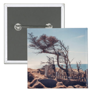 Graveyard by the sea 2 inch square button