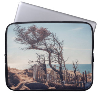Graveyard by the sea laptop sleeve