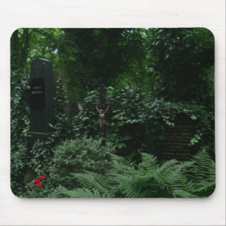 Graveyard covered by Ivy Mouse Pad