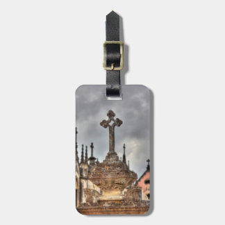 Graveyard cross close-up, Portugal Bag Tag