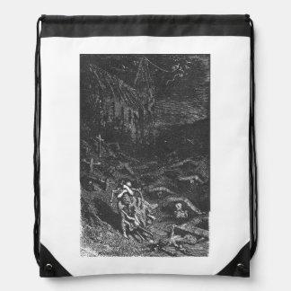 Graveyard Dead drawstring backpack