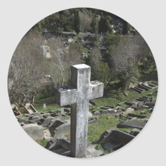 Graveyard Full Of Graves On Mountain Stickers