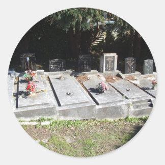 Graveyard Full Of Graves Round Sticker